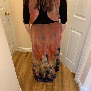 Anthropologie Dresses - Anthropologie open back maxi dress size large